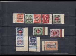 Danzig: MiNr. 220-230, postfrisch, BPP Signatur