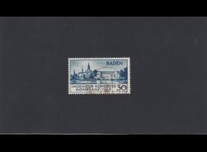 Baden: MiNr. 46 II, gestempelt, BPP Signatur
