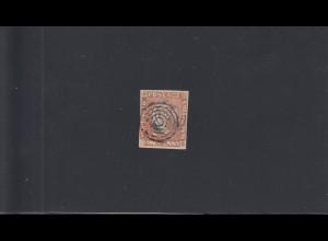 Mauritius: S.G.No. 11. 1848, gestempelt