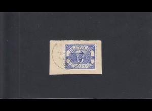 Feldpost: MiNr. 13b auf Briefstück, Datum 14.4.1945, BPP Attest