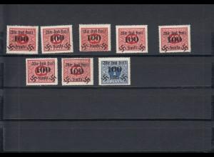 Sudetenland: Rumburg MiNr. 36-43, Falz