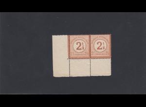 Deutsches Reich: MiNr. 29 I b + 29 im Paar, Eckrand, postfrisch, BPP Attest