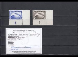 Deutsches Reich: MiNr. 423 - 424, Eckrand, postfrisch, BPP Befund