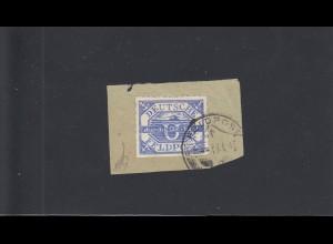 Feldpost: MiNr. 13b auf Briefstück, Datum 9.4.1945, BPP Attest