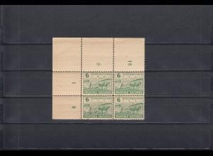 SBZ: Provinz Sachsen, MiNr. 85yaA, postfrisch, Eckrand Viererblock, BPP Signatur
