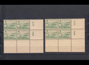 SBZ: Sachsen, MiNr. 85xaA, 84yaA, postfrisch, Eckrand Viererblock, BPP Signatur