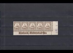 DSWA: MiNr. 11, postfrisch, Eckrandstück mit Inschrift