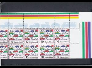 Bund: Kleinbogen 1997 mit starker Verzähnung, postfrisch