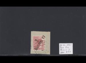 SBZ: MiNr. 179I, Type 8c, Briefstück, BPP Signatur