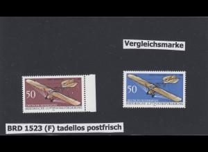 Bund: MiNr. 1523 F - Fehlfarbe mit Vergleichsstück, postfrisch