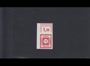 SBZ: Ostsachsen: MiNr. 41, postfrisch in Ölfarbe, BPP Attest, Eckrand