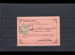 Deutsches Reich: MiNr. 17b, Stempel Sorau, auf Vertreter Karte, BPP Befund
