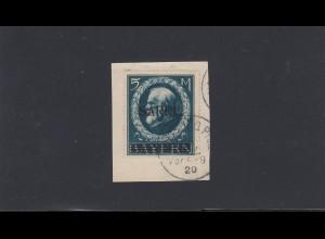Saargebiet: MiNr. 30, gestempelt Homburg auf Briefstück, BPP Attest