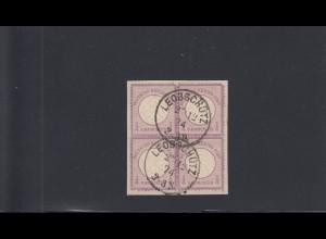 Deutsches Reich: MiNr. 1, gestempelt, im Viererblock, Leobschütz, BPP Attest