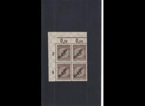 Deutsches Reich: MiNr. 99b, Eckrand Viererblock, postfrisch