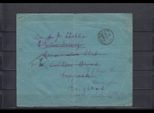 DP-Türkei 1917:prisoners mail, letter of 2. Norfolk Regiment, Afion Kara Hissar