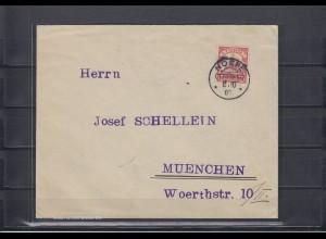 Togo 1907: Brief Noepe, Entwertung rot Schiffszeichnung sehr klar nach München