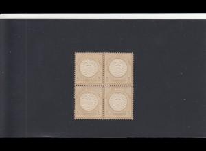 Deutsches Reich, MiNr. 22 - Viererblock, postfrisch, BPP Attest