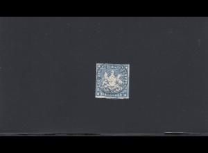 Württemberg: MiNr. 10a, gestempelt, BPP Signatur