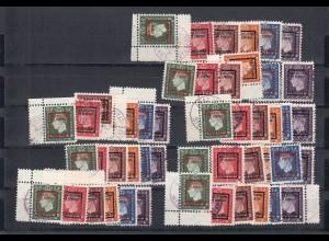 Kriegs - Werbe-Marken - Jamaica, Bahma, ... gestempelt MiNr. 9-14 IV, a-h
