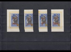 Belgien: Flämische Legion: MiNr. VIII K - kopfstehend, postfrisch; Type I-IV