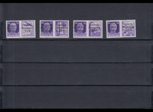 Zara: MiNr. 20 I-IV, postfrisch
