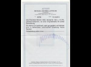 Deutsches Reich: MiNr. 56b, postfrisch mit BPP Attest