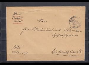 DSWA: 1905: Reichsdienstsache aus Keetmanshoop nach Lüderitzbuch