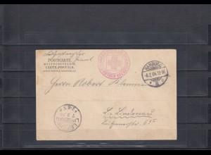 DSWA 1904: AK aus Hamburg per Feldpost nach Leipzig mit Lucie Woermann Dampfer