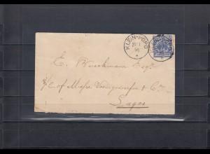 Togo Vorläufer 1896: Brief Klein-Popo über Grand-Popo, Wydah, Cotonou nach Sagos