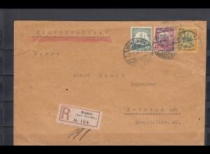 DSWA 1914: Einschreiben Windhuk nach Wriezen, letzte Post vor Kriegsausbruch