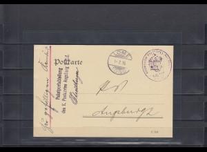Togo 1910: Postkarte als Postsache Lome Gogo über Unzustellbares Paket