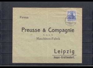 Togo 1910: Germaniafrankatur nach Leipzig, Verschluss Kaiserl. Gouverneur, Bug