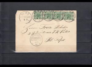 Togo 1894: Lome mit Stationsstempel Misahöhe, Vorläuferbrief, BPP Attest
