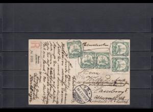 Kamerun 1913: AK als Einschreiben von Ebolowa nach Hamburg