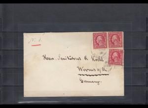 Karolinen 1915: Geschwader Spee, Guam über Manila nach Worms mit USA Frankatur