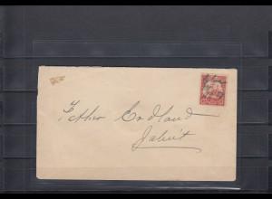 Marschall Inseln 1907: Atollpost Ebon vom Postbeauftragten Händler James Milne