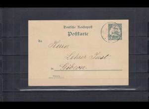 DSWA 1904: Gochas mit Wanderstempel auf Ganzsache. Signatur BPP