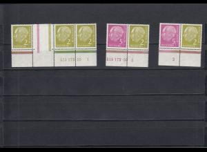 Bund: MiNr. WZ10, W11 mit HAN und Plattennummer, postfrisch