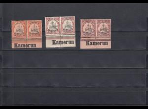 Kamerun: Michel Nr. 12-14 vom Unterrand mit Inschrift, postfrisch