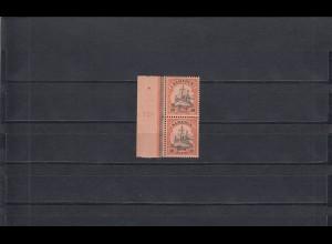 Kamerun: MiNr. 12 mit Plattennummer, senkrechtes Paar, postfrisch