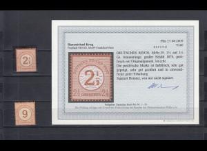 Deutsches Reich: MiNr. 29, postfrisch mit BPP Befund und MiNr. 30