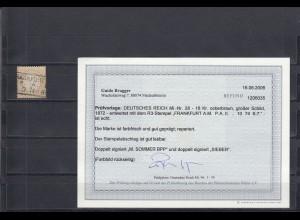 Deutsches Reich: MiNr. 28, Stempel Frankfurt, BPP Befund