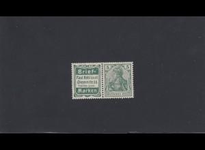 Deutsches Reich: MiNr. W2.10, *, Briefmarken Kohl