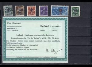 Dt. Besetzung Laibach: MiNr. 33-38, postfrisch