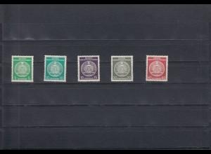 DDR: Michel Nr. Dienst A 29-33, postfrisch, BPP Signatur