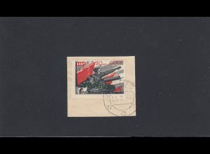 Vilnius: Dt. Besetzung Litauen: MiNr. 18, gestempelt Briefstück, 25.07.1941