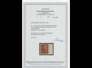 Bund: MiNr. 515 II, postfrisch vom Seitenrand, BPP Attest