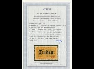 Bund: MiNr. 1039, postfrisch, reduzierter Farbdruck, BPP Attest