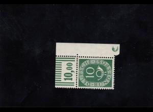 Bund: Posthorn MiNr. 128 D2, postfrisch, Eckrand E2
